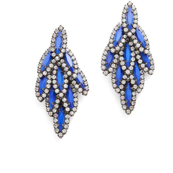 295ae5d46bff7 Rental Elizabeth Cole Cobalt Bacall Earrings ($40) ❤ liked on ...