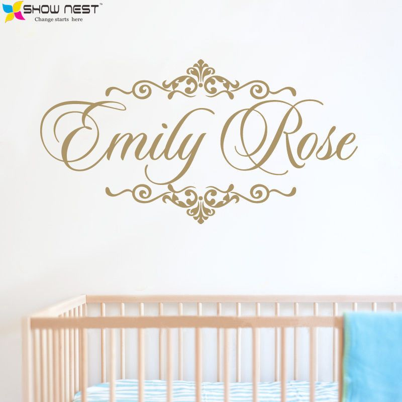 Personalized Baby Name Wall Decal Vinyl Sticker Home Decor Children Nursery Bedroom Mural Design