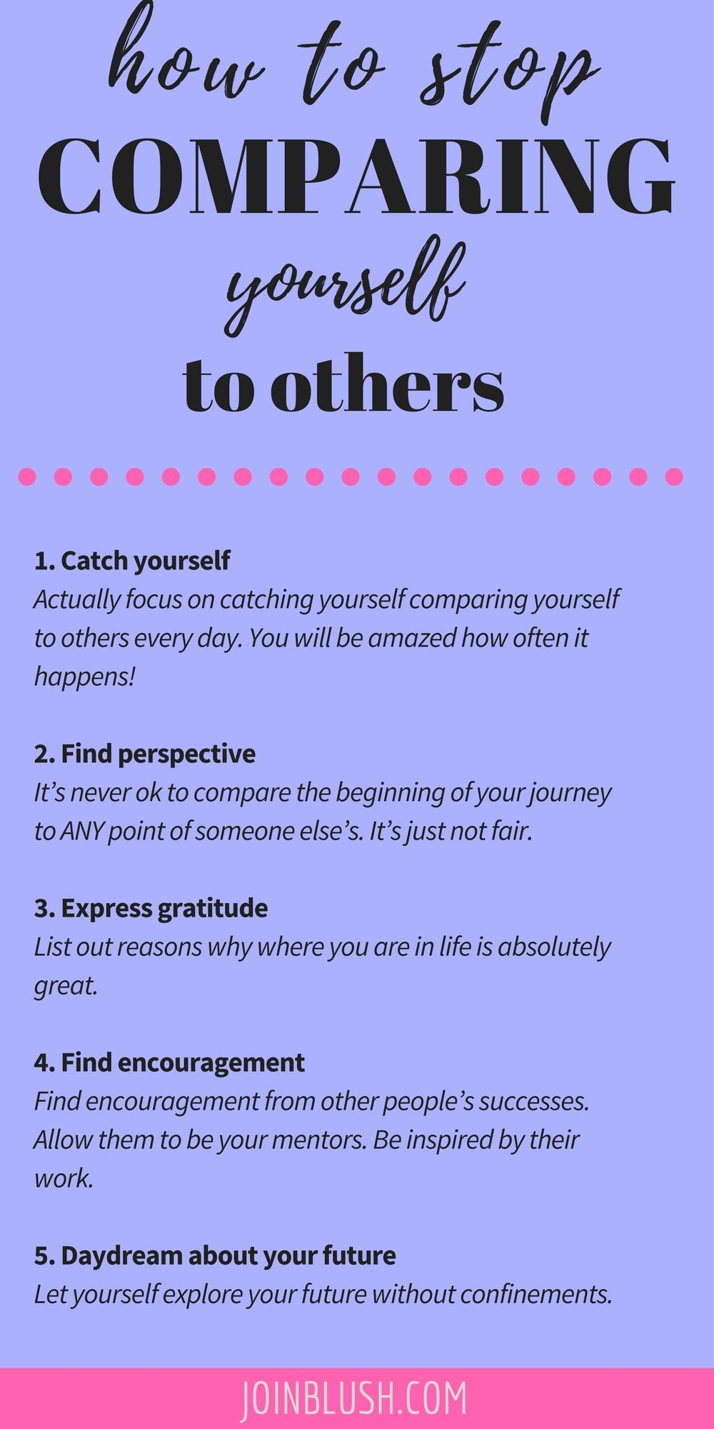 How To Stop Comparing Yourself To Others Boundaries Self