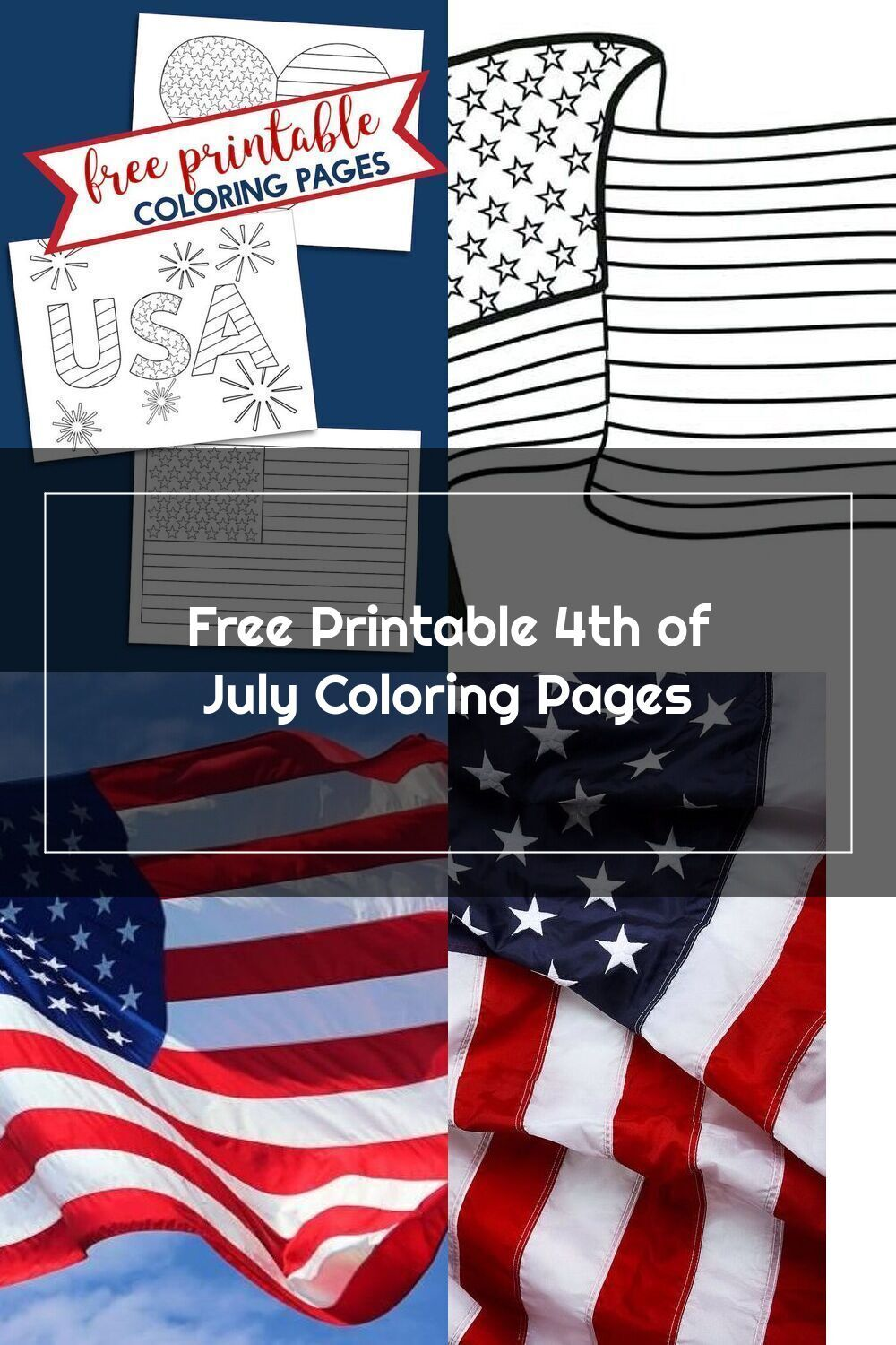 Free Printable 4th Of July Coloring Pages American Flag Heart Usa And Am