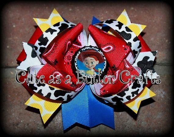 Medium Cowgirl Jessie Disney inspired boutique hair bow
