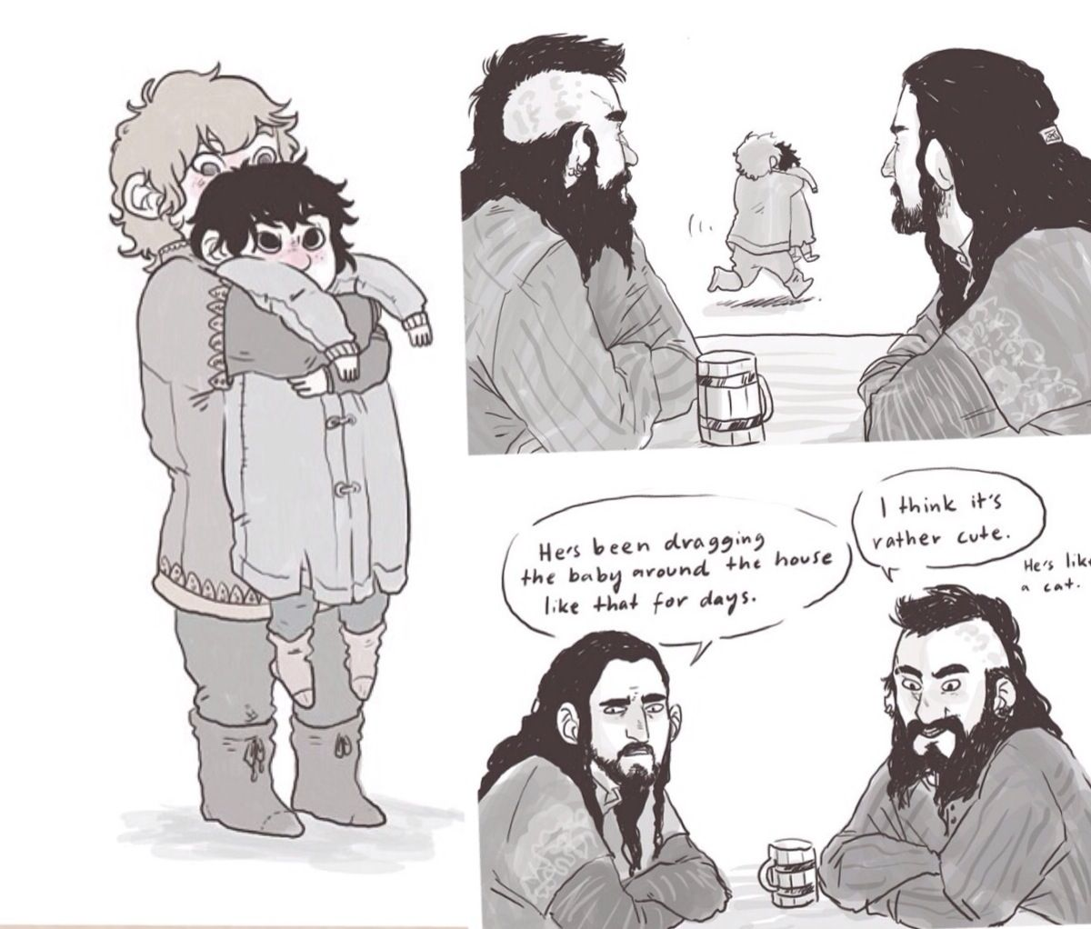 Fili and Kili and Thorin's discussion with Dwalin  Poor
