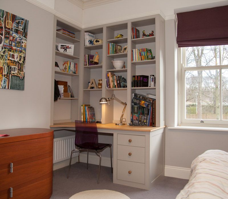 teenagers_desk_newcastle | Fitted furniture, Bookshelves ...