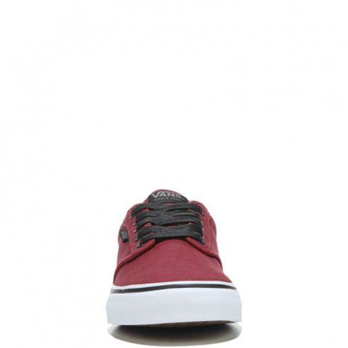Vans Mens Atwood Deluxe Ultra Cush Sneakers Oxblood RedWhite