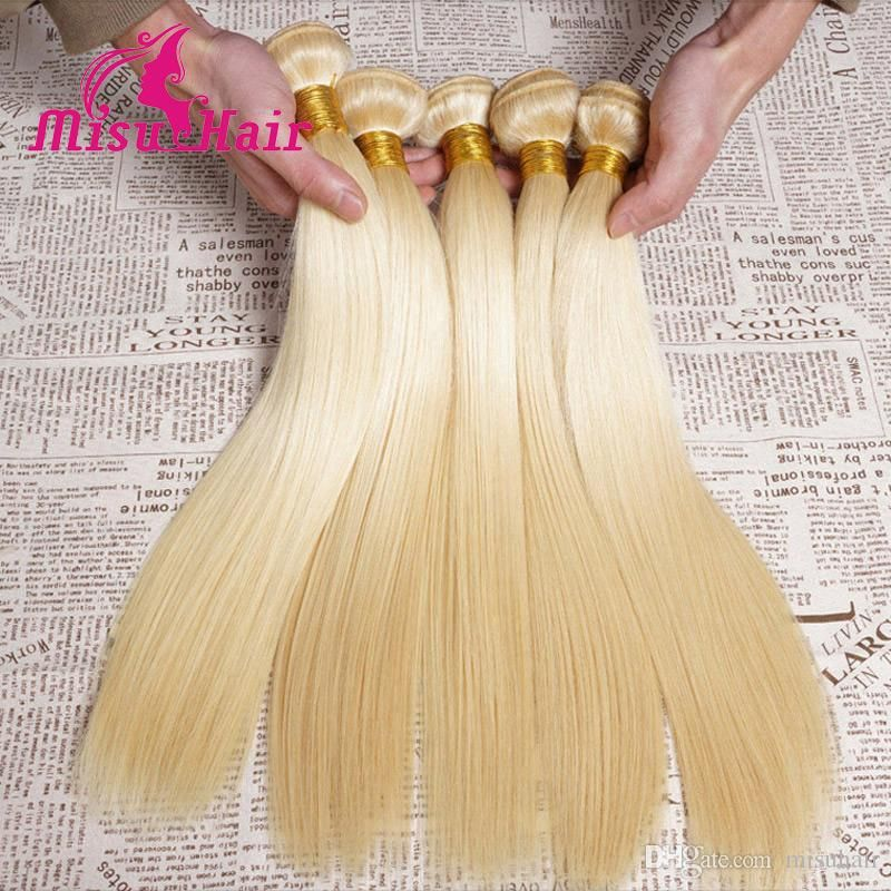 7a Blonde Weave 100 Unprocessed European 613 Blonde Straight Human