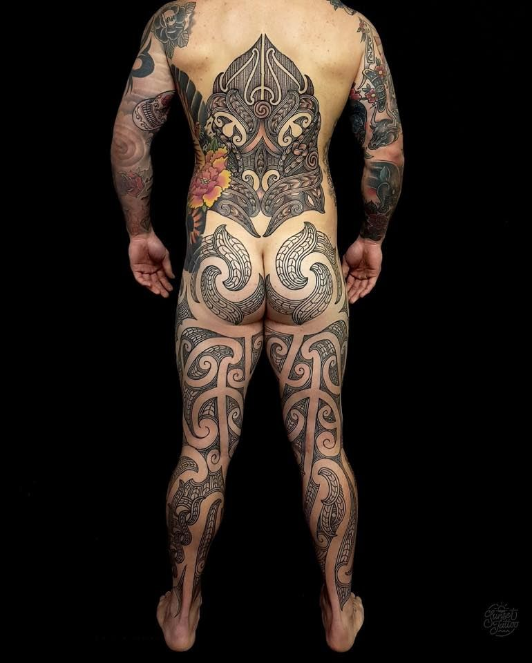 Maori Body Art: Tristan Marler — Sunset Tatoo