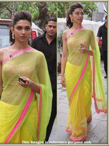 Deepika Padukone Chennai express Bollywood saree ...