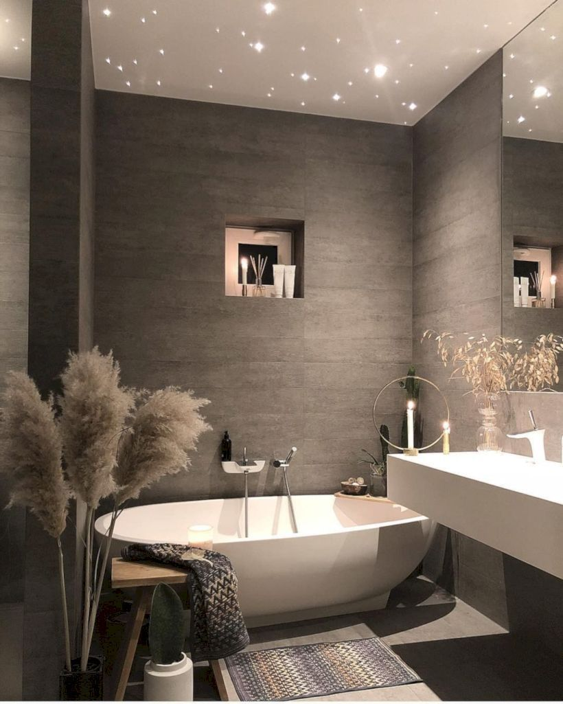 26 Gray Bathroom Ideas Worthy Of Your Experiments Bathroom Disenodeinteriores Experimen In 2020 Grey Bathrooms Bathroom Interior Design Residential Design Trends
