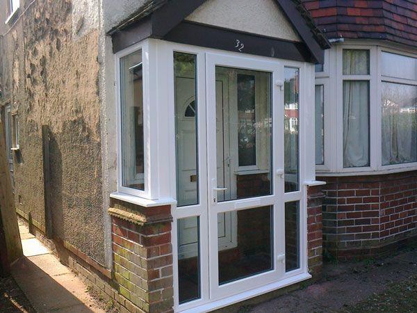 ://perfectporchswing.com/upvc-porches-beautiful-porch- & porch uk black door white windows   patio furniture   Pinterest ... Pezcame.Com