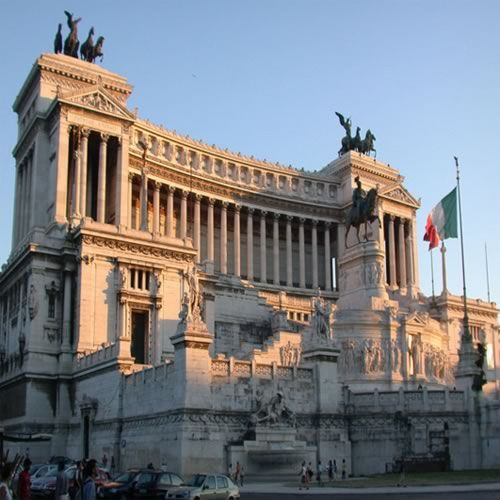 ATOP THE WEDDING CAKE The Monument Of Victor Emmanuel II In Rome Nicknamed