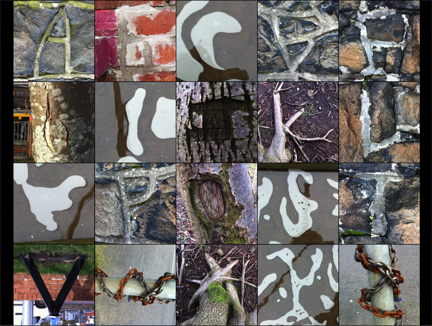 Various letters I found throughout Ballymena to form my Natural Alphabet