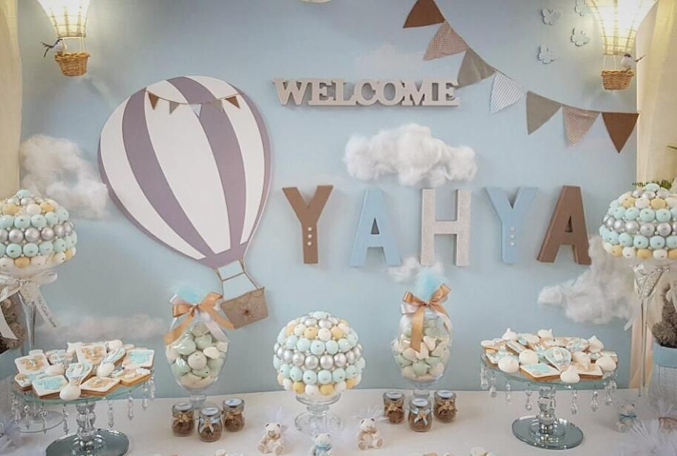 Air Balloon Themed Party Hot Air Balloon Baby Shower Hot Air