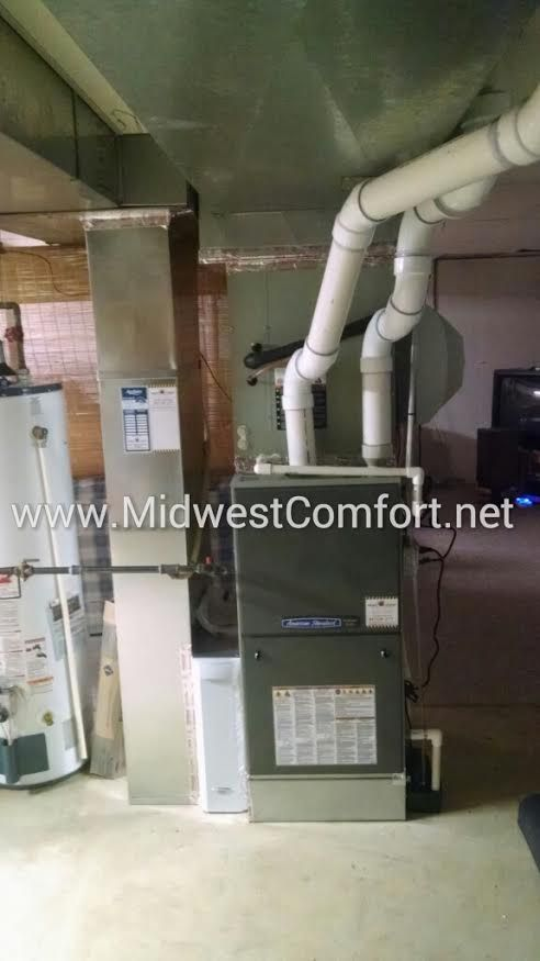 Here S Our Recent Installation Of The American Standard Platinum Zv Modulating Furnace With The 2 Air Conditioner Installation Forced Air Furnace Installation
