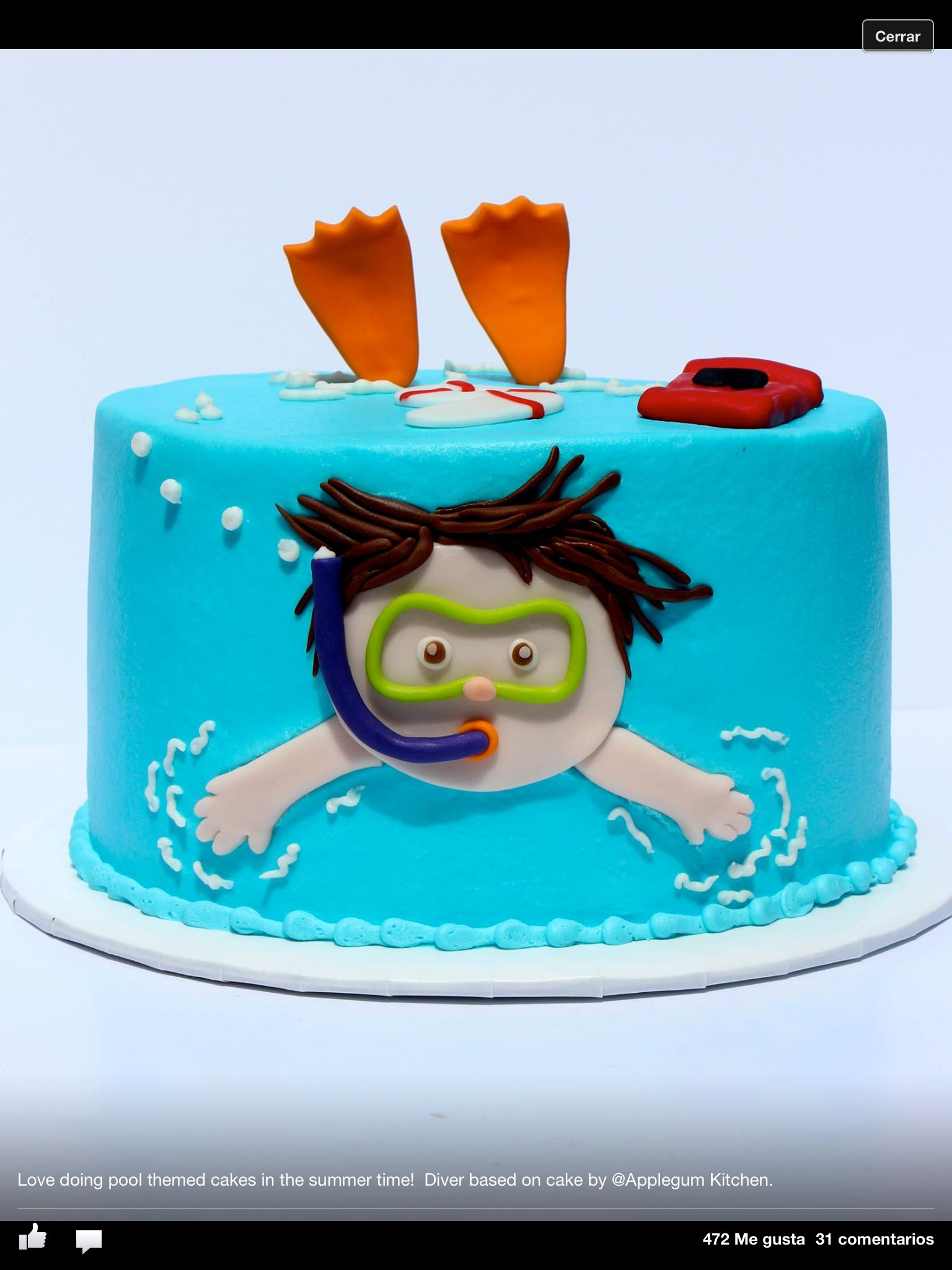 25 Pool Party Cakes That Make a Splash! | Cute Cakes | Pinterest ...
