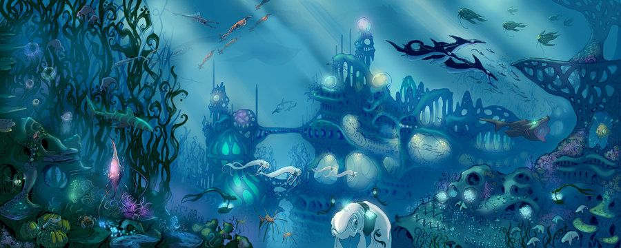 Oceancities Underwater City Ocean Art Projects Underwater Art