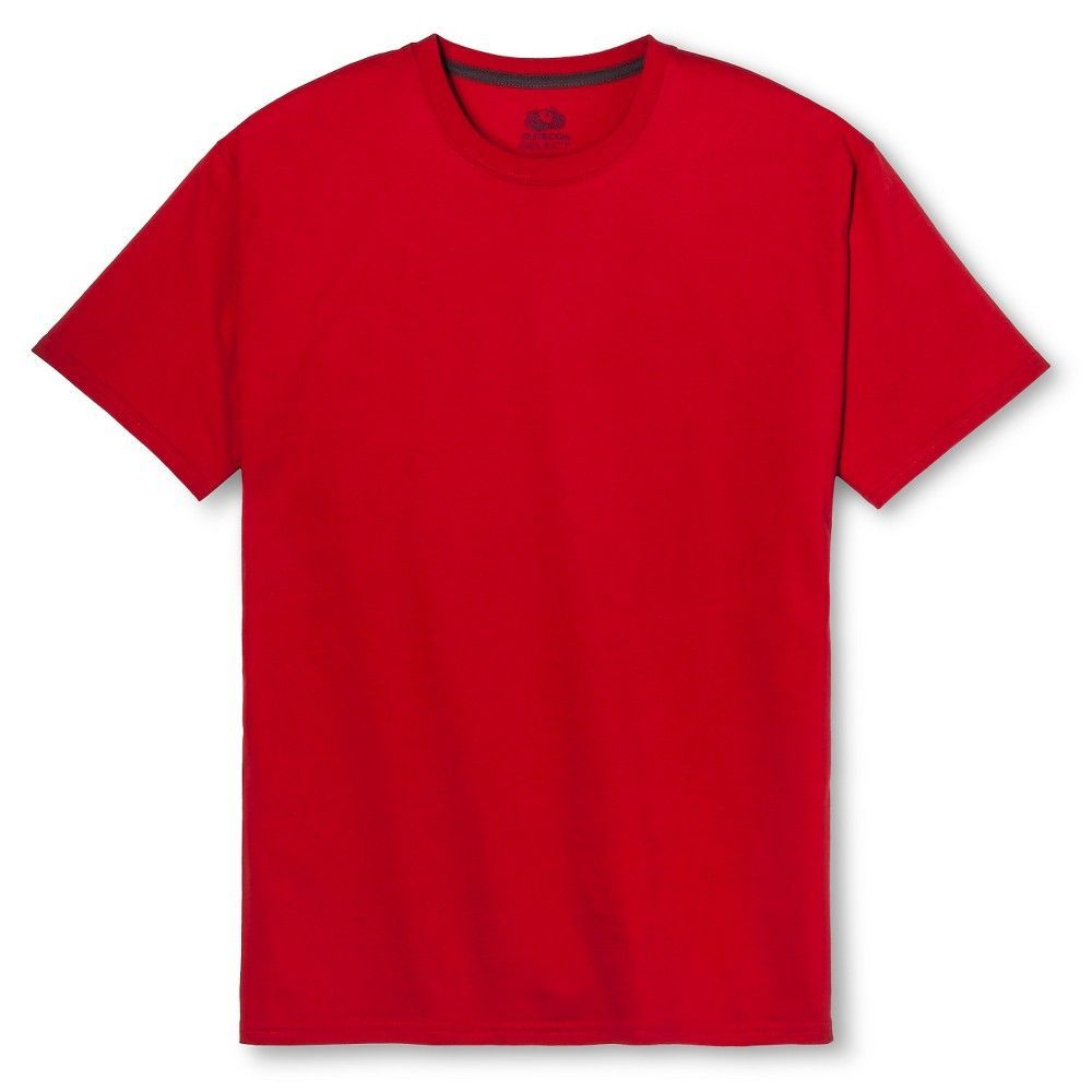 a35c09b60 Fruit of the Loom Select Men's Short Sleeve T-Shirt - True Red, Size: Large