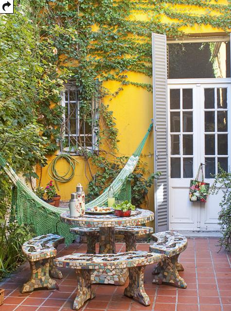 Me Gusta El Color De Las Paredes Con El Verde Colores Para Patios Jardin De Invierno Patio Interno