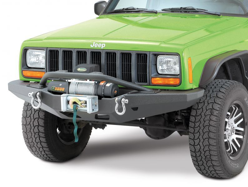 Smittybilt Xrc M O D Front Winch Bumper And Rear Bumper Tire Carrier Combo With Xrc Rock Sliders For 84 01 Jeep Cherokee Jeep Cherokee Jeep Cherokee Xj Jeep Cherokee Bumpers