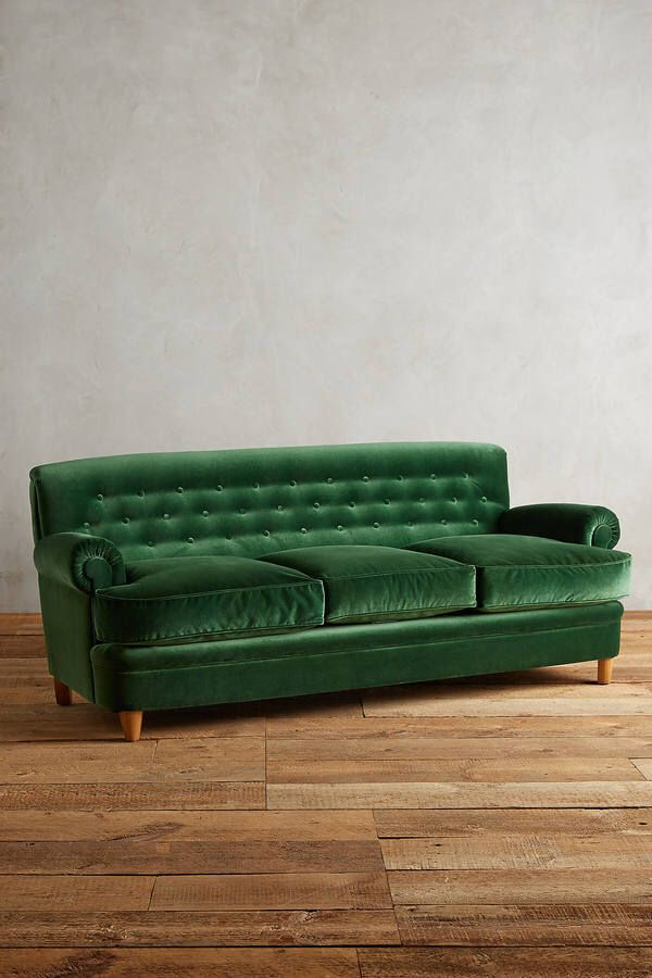 Anthropologie Velvet Kimmeridge Sofa
