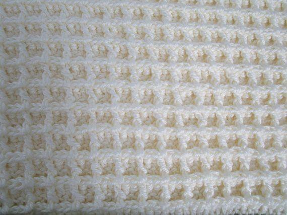 Crochet Afghan Pattern, Waffle Crochet Blanket, Easy Crochet Blanket ...