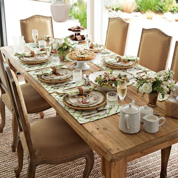 Harvest Dining Table Distressed Honey Williams Sonoma  Dining Awesome Dining Room Table Setting Ideas 2018