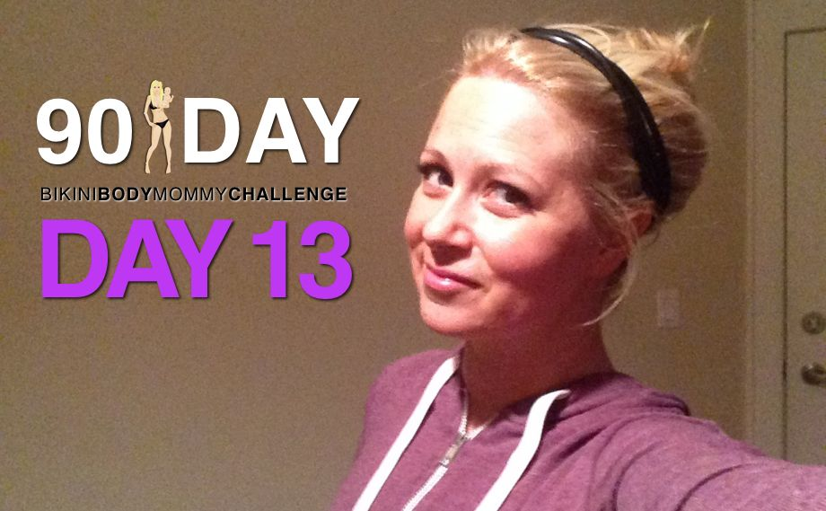 Day 13 - Cardio Day  For the BIKINI BODY MOMMY 90 day challenge I am offering you a CHOICE on ALL of your cardio days going forward. YOU can choose ... a 45 minute cardio session OR 20 minute HIIT (High Intensity Interval Training) workout.  When done properly, a Bikini Body Mommy 20 minute HIIT cardio session can be JUST AS ... if not MORE beneficial to our bodies then a 45 minute steady state cardio workout.
