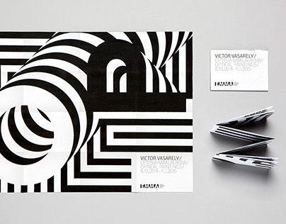 """다음 @Behance 프로젝트 확인: """"Victor Vasarely Exhibition""""…"""