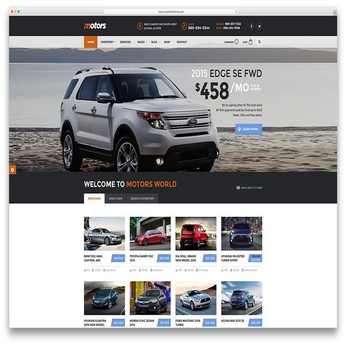 motors-new-car-dealer-wordpress-theme | Automobile Themes | Pinterest