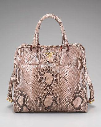 8f8b598bb2 Prada Pitone Lucido Python Tote. $4,100. | Purses | Fashion, Bags, Prada