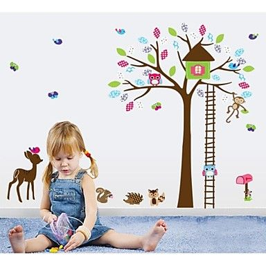 jiubai® cartoon dier kind kamer decoratie muursticker muurtattoo – EUR € 16.30