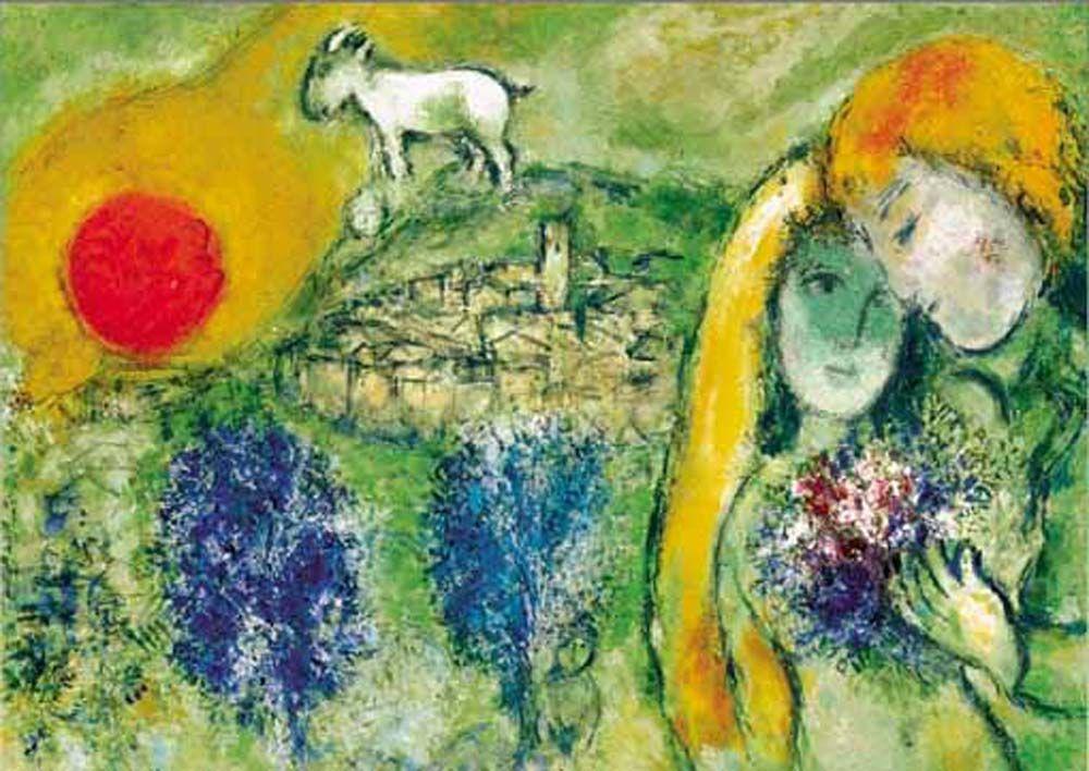 Chagall les amoureux de vence arts plastiques for Chagall tableau