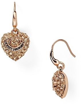 Juicy Couture Pavé Heart Drop Earrings On Style Co Uk
