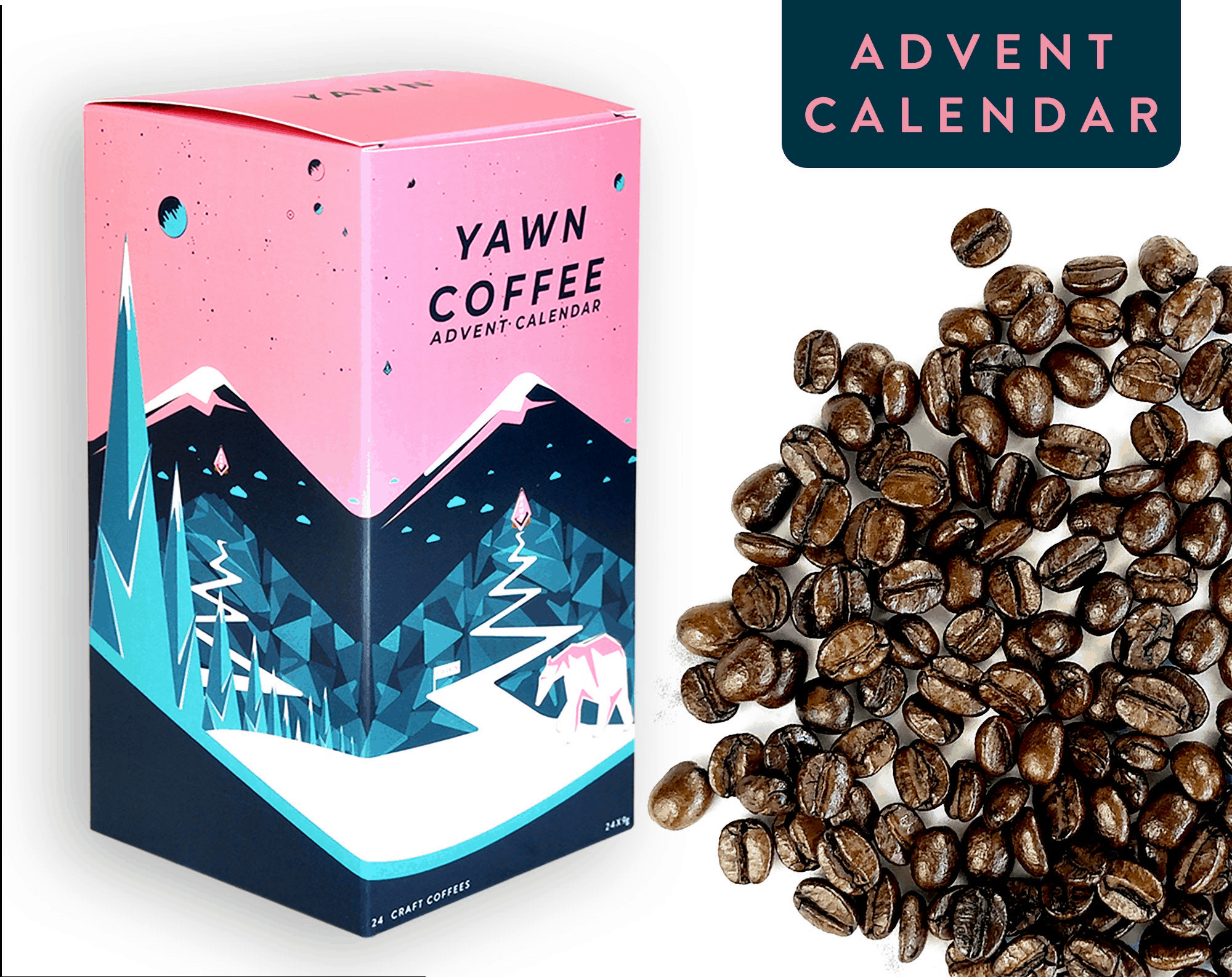 Yawn Coffee Advent Calendar Coffee crafts, Wine gift