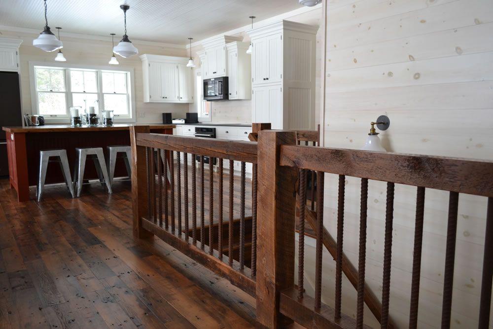 Best Reclaimed Wood Timber Stair Railings Photos Wood 400 x 300