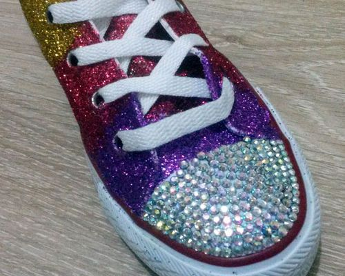 Clothing Diy Wedding Shoes Wedding Shoes Sneakers Glitter Converse