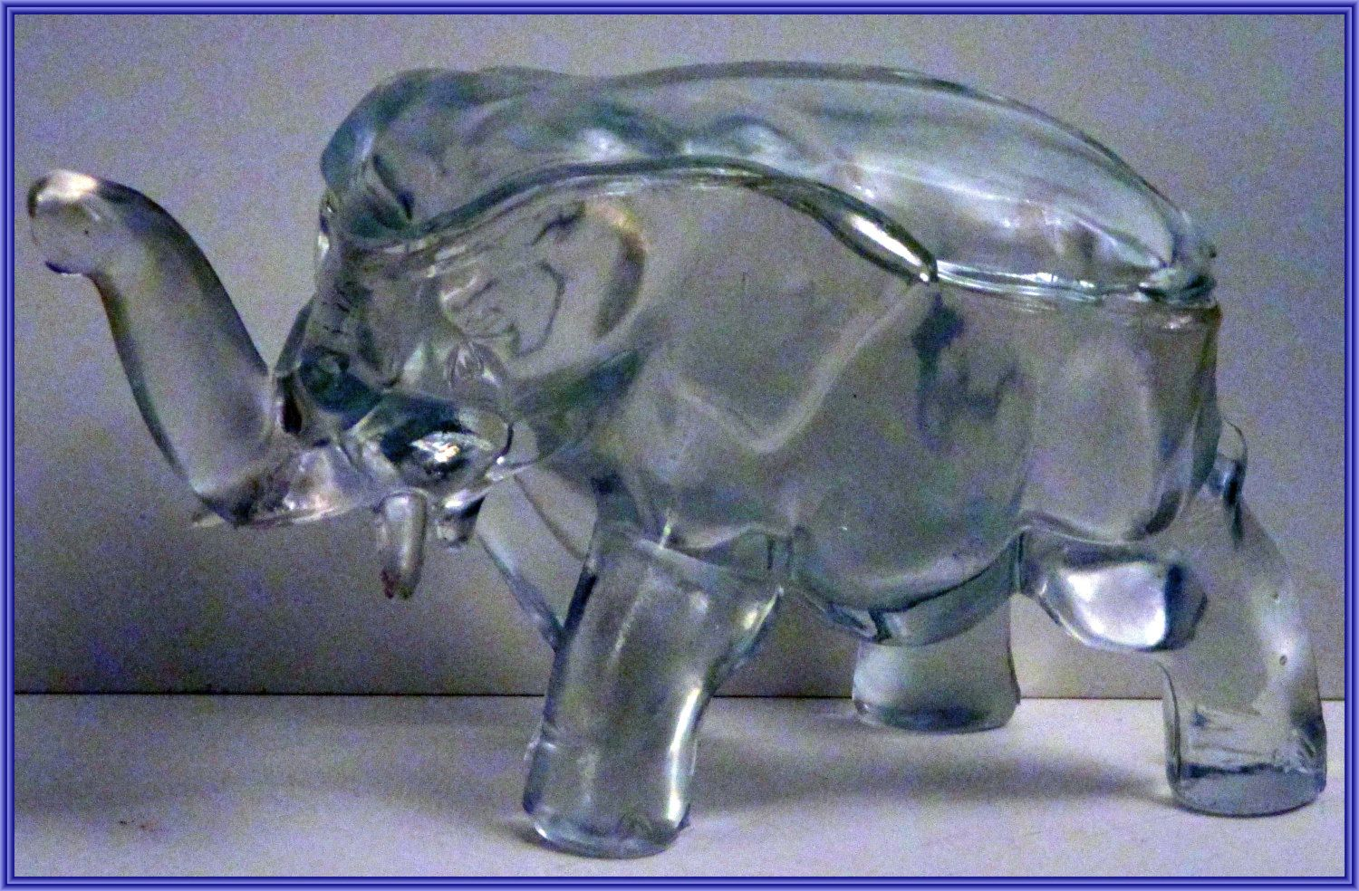 Crystal Clear Glass ELEPHANT Candy Dish Trinket Box ... - photo#7