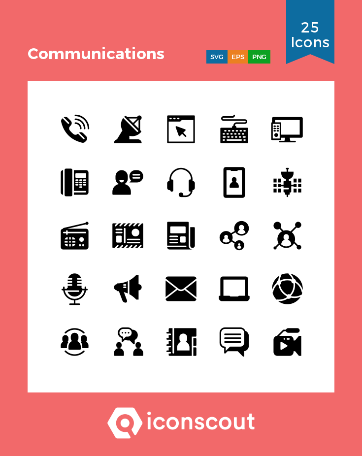 Download Communications Icon Pack Available In Svg Png Eps Ai Icon Fonts Communication Icon Icon Pack Custom Icons