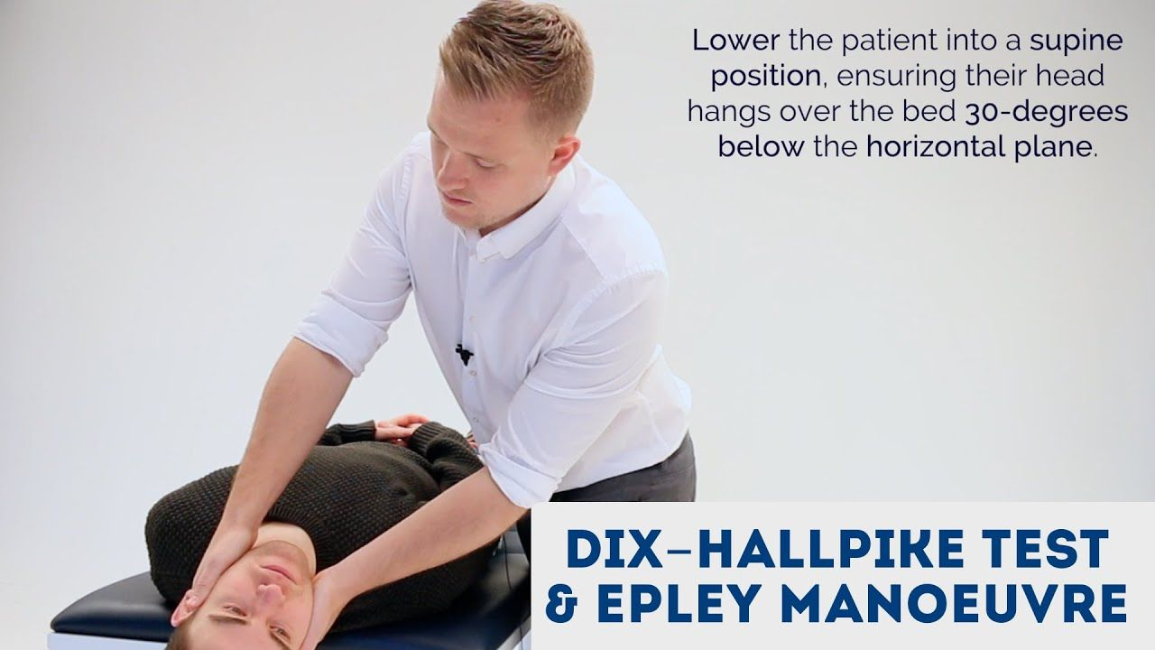 Dix Hallpike Test Epley Manoeuvre Osce Guide In 2020 Epley Maneuver Test Supine Position