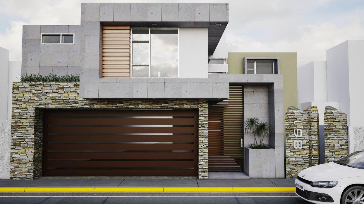 Fachada vlad 861 casas de estilo por modulor arquitectura for Pisos modernos para casas minimalistas