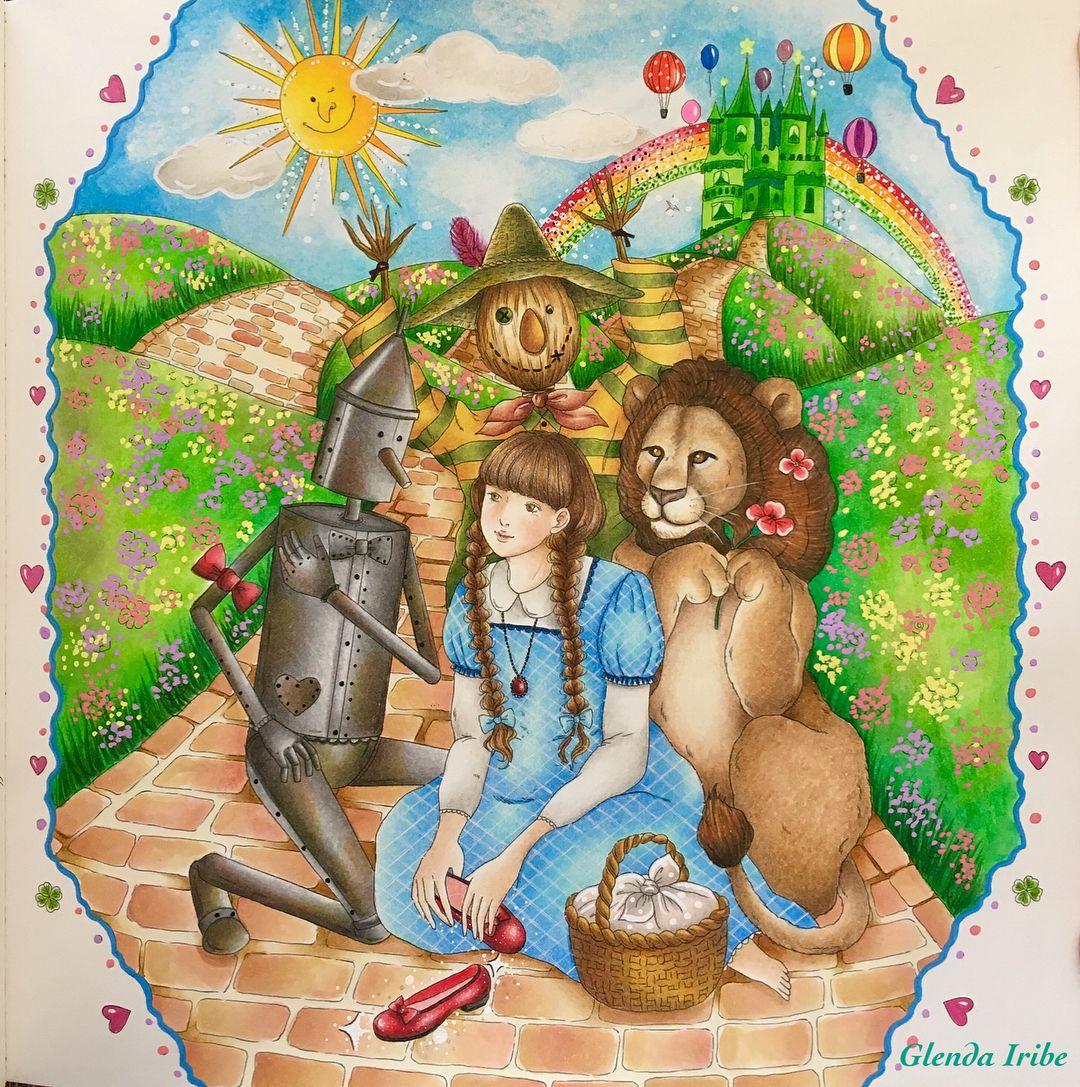 El Mago De Oz Colors Make You Happy De Miki Takei Personaje Enchanted Forest Coloring Book Enchanted Forest Coloring Coloring Books