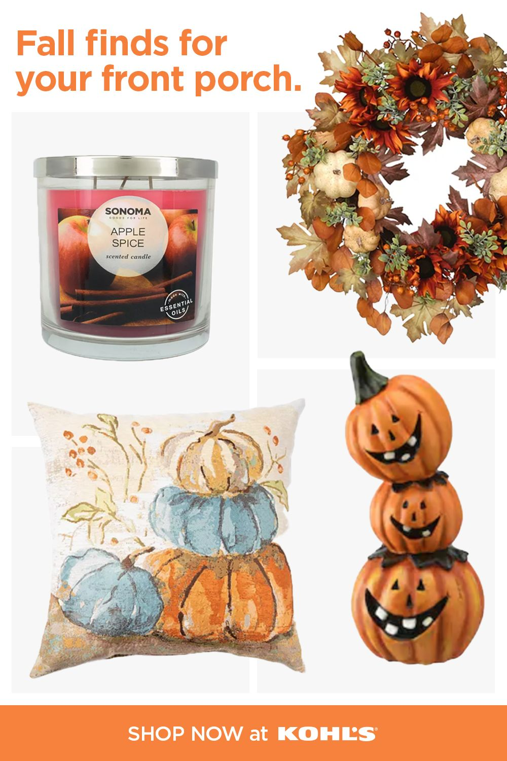 Find Festive Fall Outdoor Decor At Kohl S In 2020 Fall Crafts Diy Halloween Crafts Decorations Fall Decor Diy