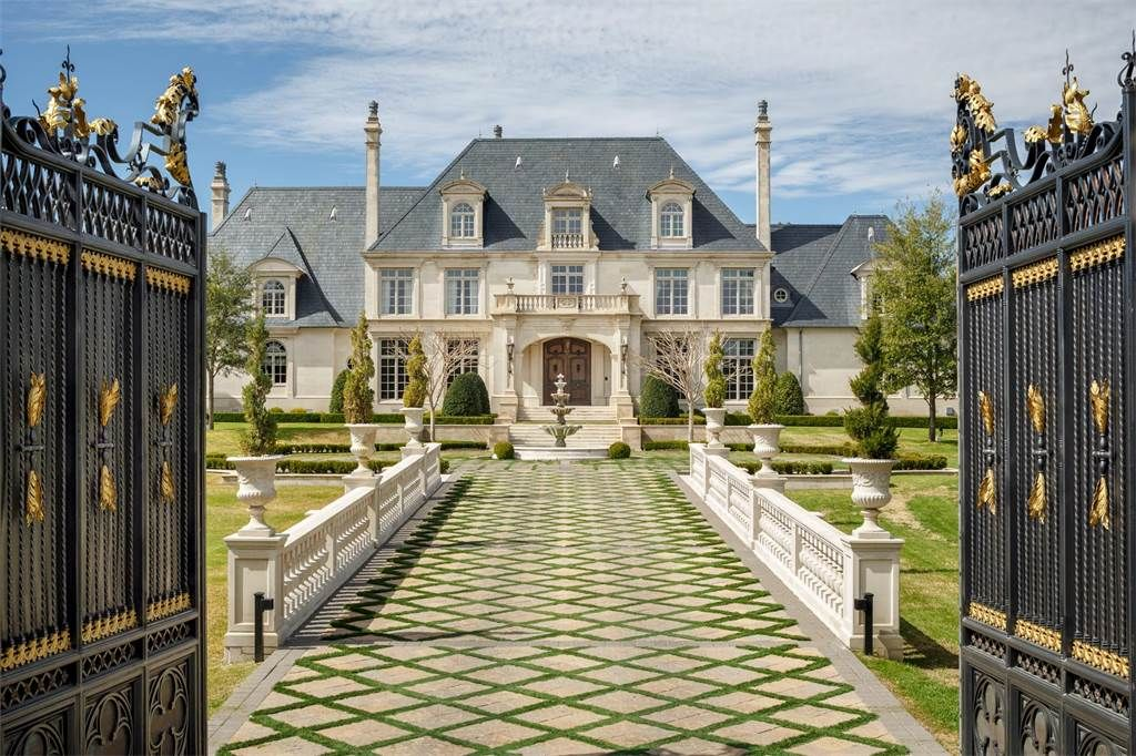 Property of preston hollow french estate the chateau on for The house dallas for sale