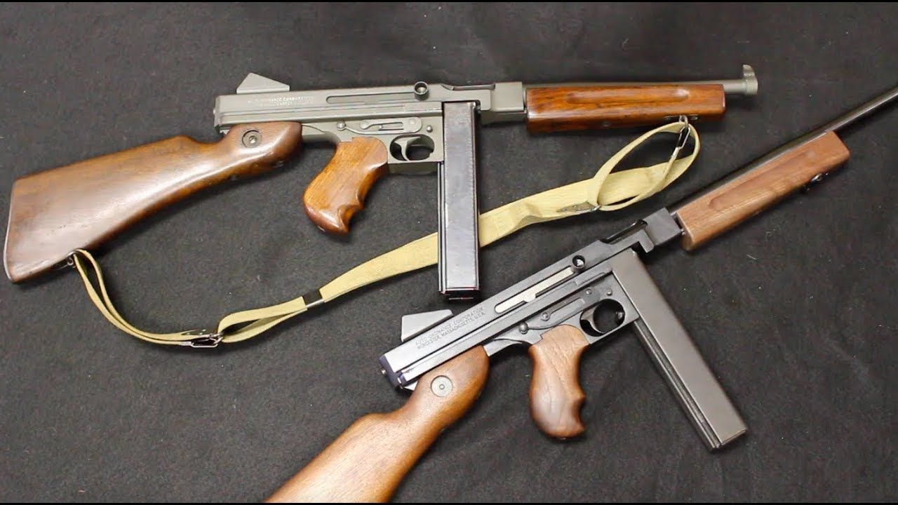 0be5b47f636c Auto-Ordnance Semi-Auto Thompson vs Original M1A1 SMG
