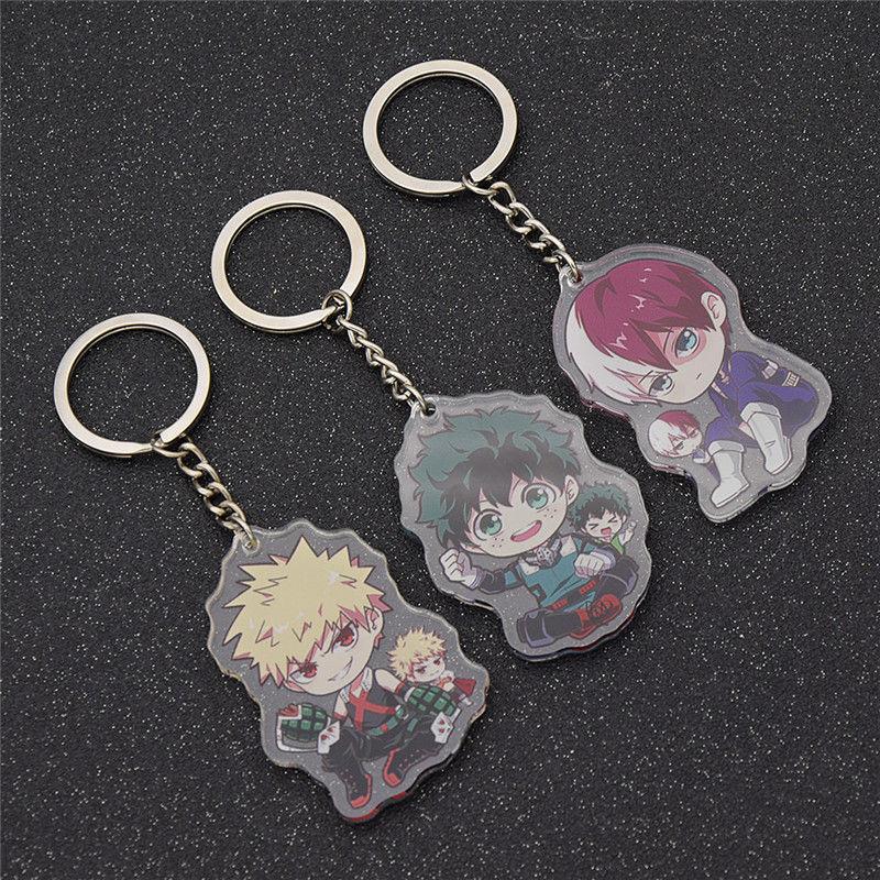 1pc Cute Anime New Boku Key Ring Keychain Cartoon Gifts Japanese Acrylic Gifts