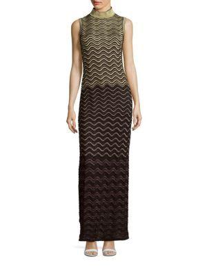 M MISSONI Ripple Stitch Metallic Gown. #mmissoni #cloth #gown