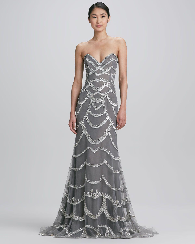 Beaded Strapless Dress