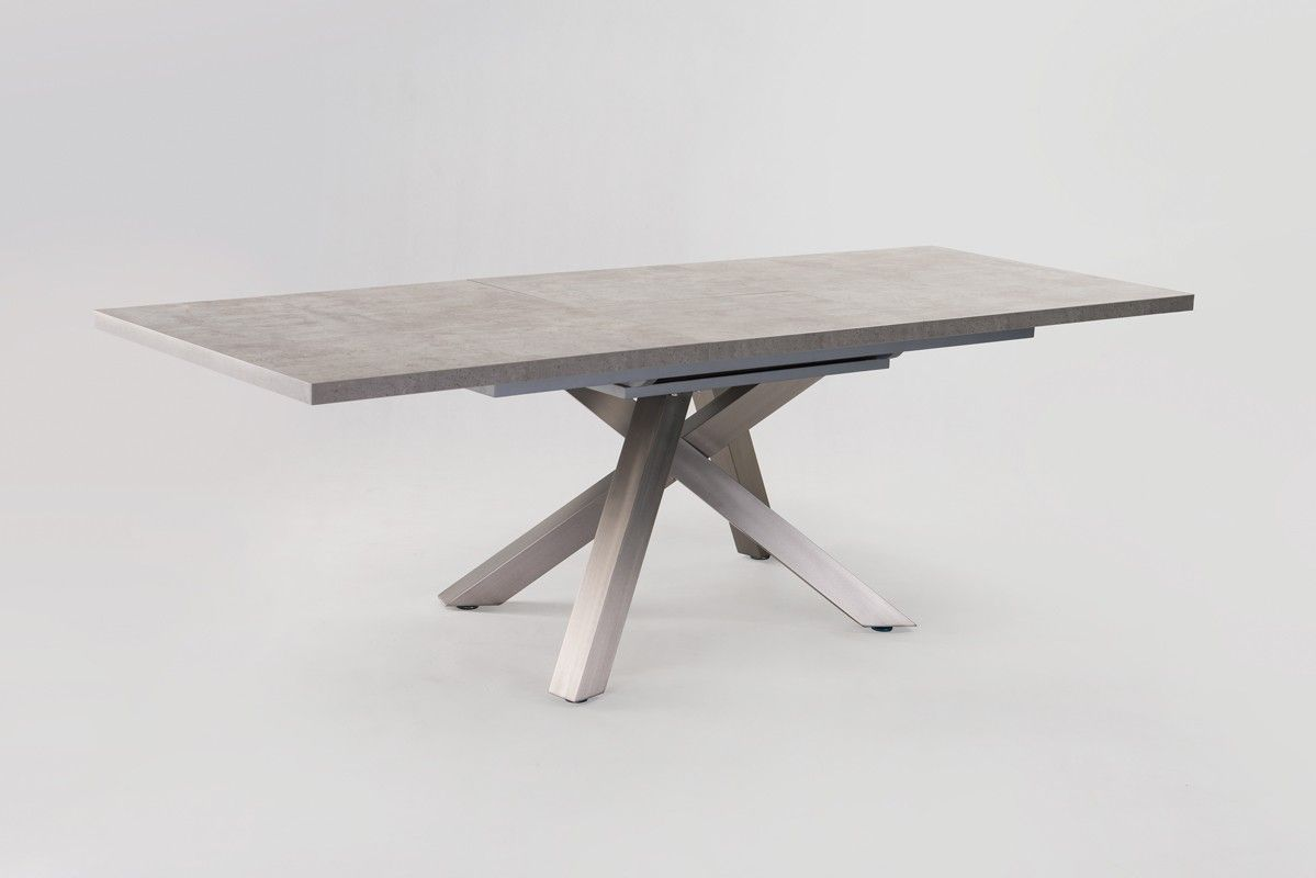 Modrest orson contemporary concrete extendable dining for Best extendable dining table