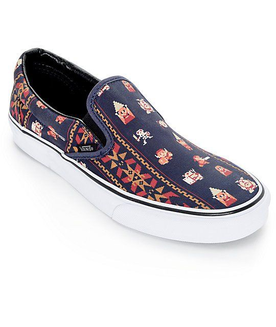 e28bb30ebca8 Relive your favorite childhood game with the exclusive Zelda slip-on style from  the Vans and Nintendo collaboration. Go crazy over the Zelda inspired  tribal ...