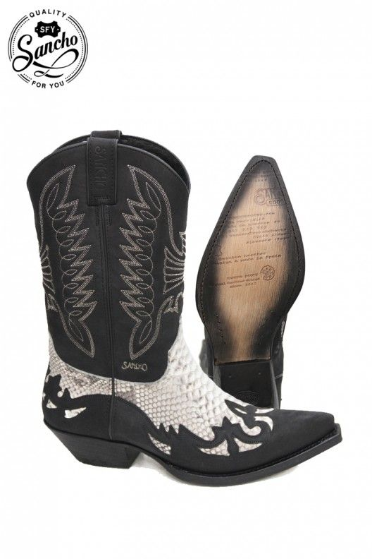 Cowboy boots TUCSON PITON BLACK | Men's cowboy boots, Cowboys and ...