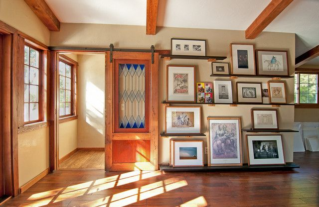 Oh So Pretty Barn Door With Stained Glass Window Glass Barn Doors Traditional Home Office Glass Office Doors